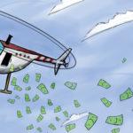 """l'alleggerimento quantitativo, il QE, è diventato un'arma spuntata; e il governo tedesco difficilmente permetterà di attuare ciò che è strettamente necessario per rilanciare l'economia, vale a dire """"l'helicopter money"""", ovvero la distribuzione di denaro direttamente alla gente, come i paesi asiatici sopra menzionati hanno già fatto."""