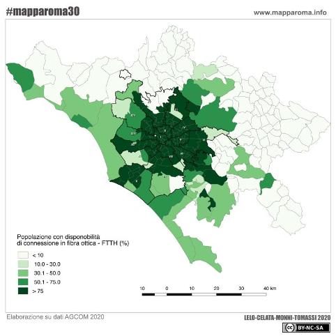 Le Disuguaglianze digitali nella città metropolitana di Roma al tempo del Covid-19