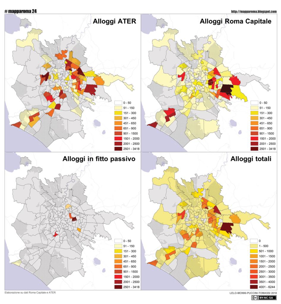 Le categorie di alloggi dentro il territorio comunale